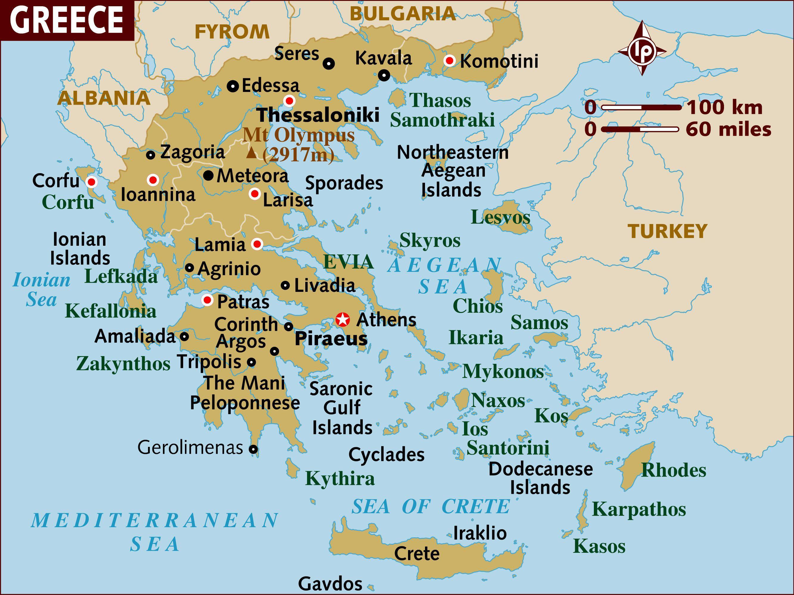 Preferência Mapa da Grécia ilhas - Mapa de ilhas gregas (Sul da Europa - Europa) LZ29