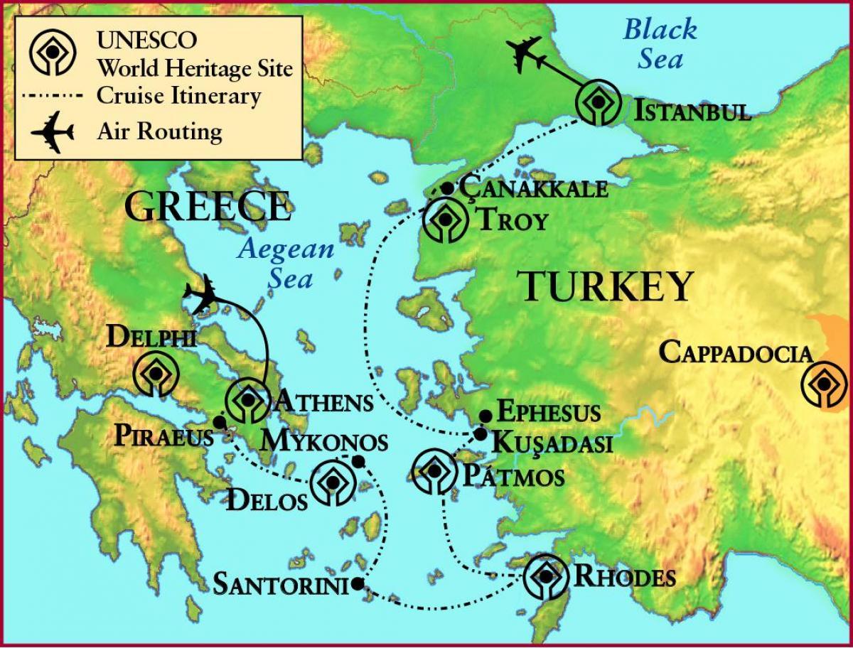 troia mapa Grécia antiga Tróia mapa   Mapa da Grécia antiga e Troy (Sul da  troia mapa
